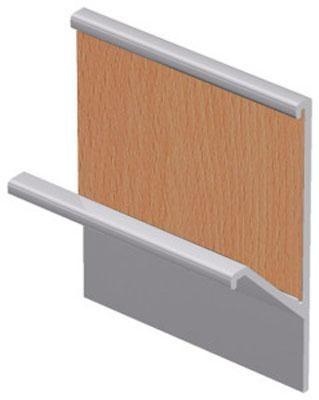 Perfil aluminio para móveis