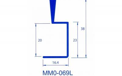 PERFIL PUXADOR MMO-069L