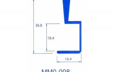PERFIL PUXADOR MMO-098
