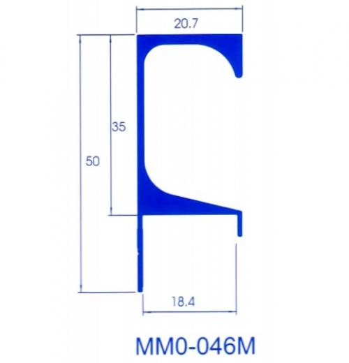 PERFIL PUXADOR MMO-46M