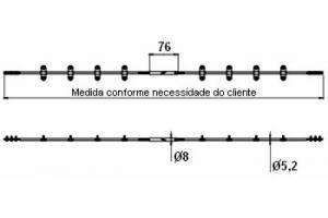 Alinhador p/ portas – Sistema Anti-empenamento sobreposto
