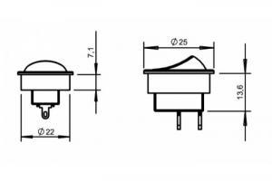 Interruptor Cinza / Preto
