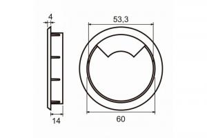 Passa fio - 14 x 60 mm