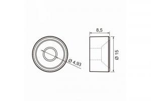 Suporte prateleira Pitão 8,5 x 15 mm