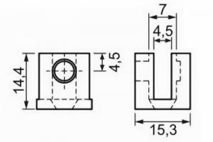 Suportes Fenda U para Vidro – 4 mm