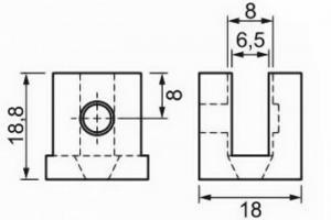 Suportes Fenda U para Vidro – 6 mm