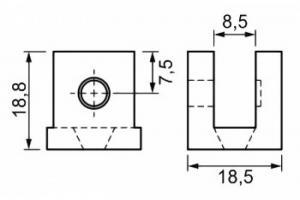 Suportes Fenda U para Vidro – 8 mm